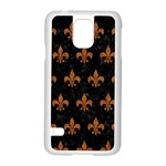 ROYAL1 BLACK MARBLE & RUSTED METAL Samsung Galaxy S5 Case (White)