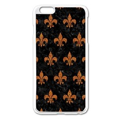 ROYAL1 BLACK MARBLE & RUSTED METAL Apple iPhone 6 Plus/6S Plus Enamel White Case