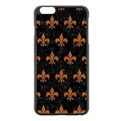 ROYAL1 BLACK MARBLE & RUSTED METAL Apple iPhone 6 Plus/6S Plus Black Enamel Case