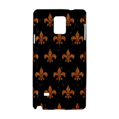ROYAL1 BLACK MARBLE & RUSTED METAL Samsung Galaxy Note 4 Hardshell Case