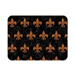 ROYAL1 BLACK MARBLE & RUSTED METAL Double Sided Flano Blanket (Mini)