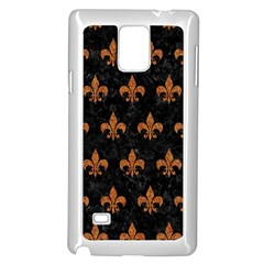 ROYAL1 BLACK MARBLE & RUSTED METAL Samsung Galaxy Note 4 Case (White)