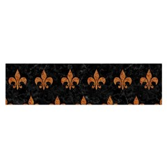 ROYAL1 BLACK MARBLE & RUSTED METAL Satin Scarf (Oblong)