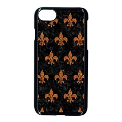 ROYAL1 BLACK MARBLE & RUSTED METAL Apple iPhone 7 Seamless Case (Black)