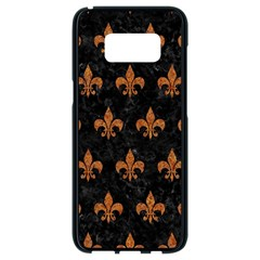 ROYAL1 BLACK MARBLE & RUSTED METAL Samsung Galaxy S8 Black Seamless Case
