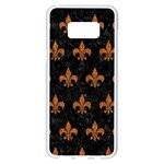 ROYAL1 BLACK MARBLE & RUSTED METAL Samsung Galaxy S8 Plus White Seamless Case
