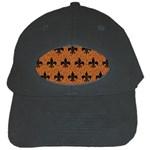 ROYAL1 BLACK MARBLE & RUSTED METAL (R) Black Cap Front