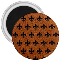 Royal1 Black Marble & Rusted Metal (r) 3  Magnets