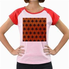Royal1 Black Marble & Rusted Metal (r) Women s Cap Sleeve T Shirt