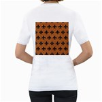 ROYAL1 BLACK MARBLE & RUSTED METAL (R) Women s T-Shirt (White) (Two Sided) Back