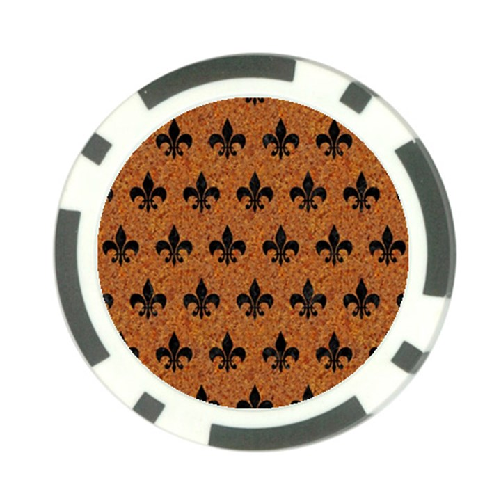 ROYAL1 BLACK MARBLE & RUSTED METAL (R) Poker Chip Card Guard (10 pack)