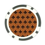 ROYAL1 BLACK MARBLE & RUSTED METAL (R) Poker Chip Card Guard (10 pack) Back