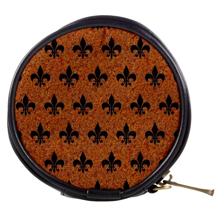 ROYAL1 BLACK MARBLE & RUSTED METAL (R) Mini Makeup Bags