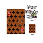 ROYAL1 BLACK MARBLE & RUSTED METAL (R) Playing Cards 54 (Mini)  Front - HeartQ