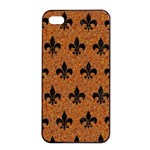 ROYAL1 BLACK MARBLE & RUSTED METAL (R) Apple iPhone 4/4s Seamless Case (Black) Front