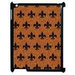 ROYAL1 BLACK MARBLE & RUSTED METAL (R) Apple iPad 2 Case (Black) Front