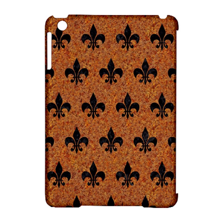 ROYAL1 BLACK MARBLE & RUSTED METAL (R) Apple iPad Mini Hardshell Case (Compatible with Smart Cover)