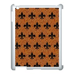 Royal1 Black Marble & Rusted Metal (r) Apple Ipad 3/4 Case (white)