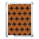 ROYAL1 BLACK MARBLE & RUSTED METAL (R) Apple iPad 3/4 Case (White) Front