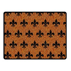 Royal1 Black Marble & Rusted Metal (r) Double Sided Fleece Blanket (small)  by trendistuff