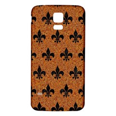 Royal1 Black Marble & Rusted Metal (r) Samsung Galaxy S5 Back Case (white)