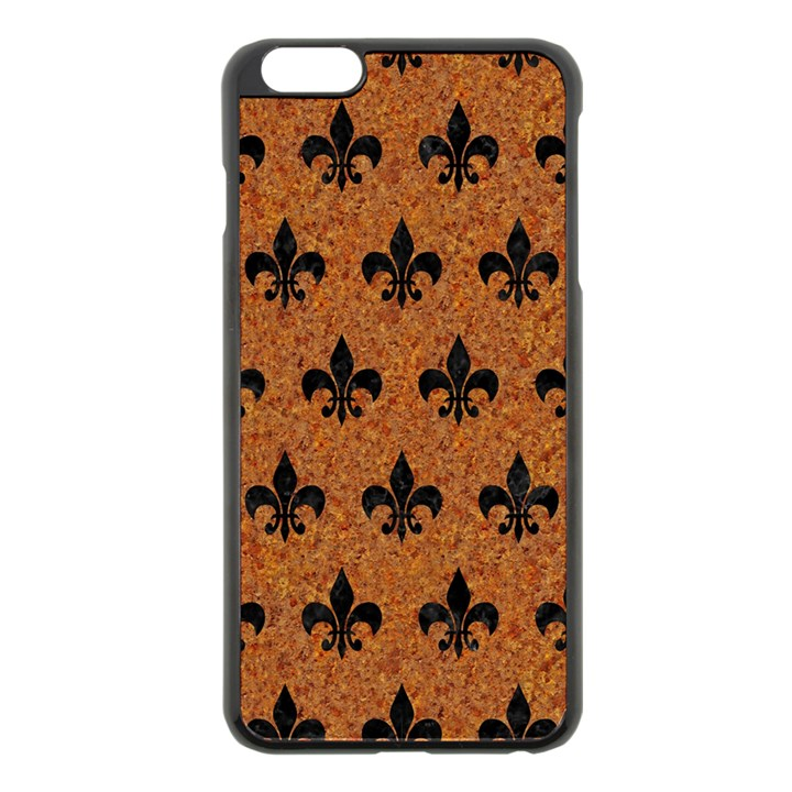 ROYAL1 BLACK MARBLE & RUSTED METAL (R) Apple iPhone 6 Plus/6S Plus Black Enamel Case