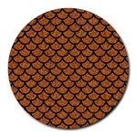 SCALES1 BLACK MARBLE & RUSTED METAL Round Mousepads