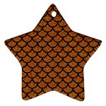 SCALES1 BLACK MARBLE & RUSTED METAL Ornament (Star)