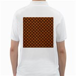 SCALES1 BLACK MARBLE & RUSTED METAL Golf Shirts Back