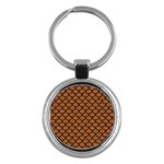 SCALES1 BLACK MARBLE & RUSTED METAL Key Chains (Round)