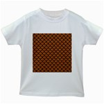 SCALES1 BLACK MARBLE & RUSTED METAL Kids White T-Shirts