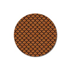 Scales1 Black Marble & Rusted Metal Magnet 3  (round) by trendistuff