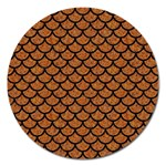 SCALES1 BLACK MARBLE & RUSTED METAL Magnet 5  (Round)