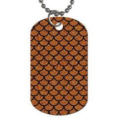 Scales1 Black Marble & Rusted Metal Dog Tag (one Side) by trendistuff