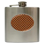 SCALES1 BLACK MARBLE & RUSTED METAL Hip Flask (6 oz)