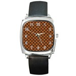SCALES1 BLACK MARBLE & RUSTED METAL Square Metal Watch