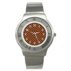 Scales1 Black Marble & Rusted Metal Stainless Steel Watch by trendistuff