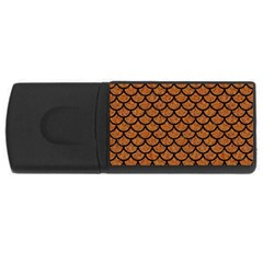 Scales1 Black Marble & Rusted Metal Rectangular Usb Flash Drive