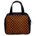 SCALES1 BLACK MARBLE & RUSTED METAL Classic Handbags (2 Sides) Front
