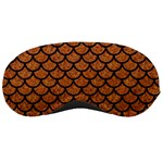 SCALES1 BLACK MARBLE & RUSTED METAL Sleeping Masks Front