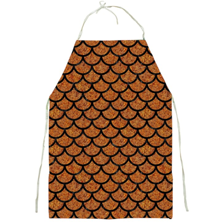 SCALES1 BLACK MARBLE & RUSTED METAL Full Print Aprons