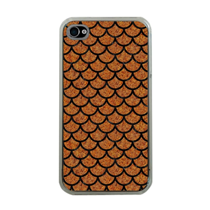 SCALES1 BLACK MARBLE & RUSTED METAL Apple iPhone 4 Case (Clear)