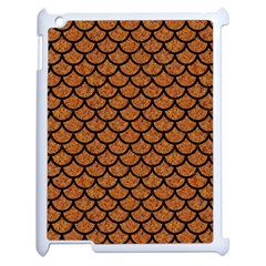 Scales1 Black Marble & Rusted Metal Apple Ipad 2 Case (white) by trendistuff