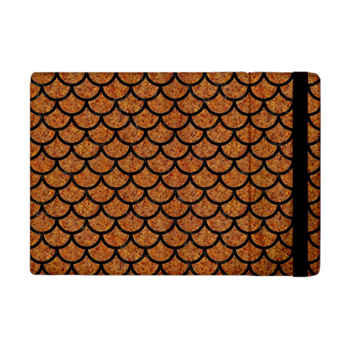 SCALES1 BLACK MARBLE & RUSTED METAL Apple iPad Mini Flip Case