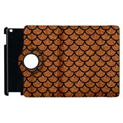 Scales1 Black Marble & Rusted Metal Apple Ipad 3/4 Flip 360 Case