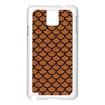 SCALES1 BLACK MARBLE & RUSTED METAL Samsung Galaxy Note 3 N9005 Case (White) Front
