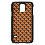 SCALES1 BLACK MARBLE & RUSTED METAL Samsung Galaxy S5 Case (Black) Front