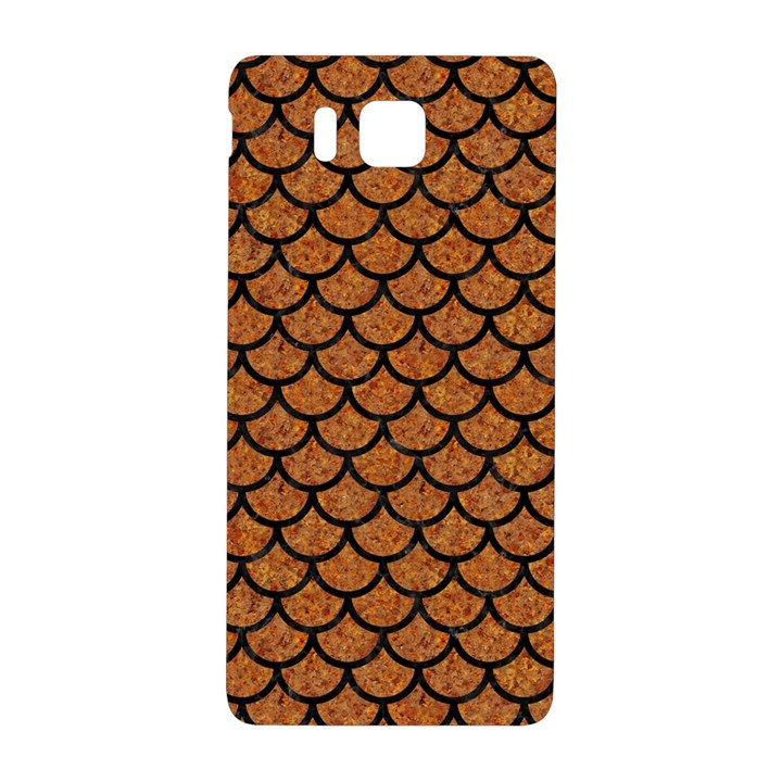 SCALES1 BLACK MARBLE & RUSTED METAL Samsung Galaxy Alpha Hardshell Back Case