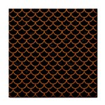 SCALES1 BLACK MARBLE & RUSTED METAL (R) Tile Coasters