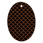 SCALES1 BLACK MARBLE & RUSTED METAL (R) Ornament (Oval)